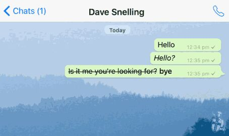 WhatsApp new text style