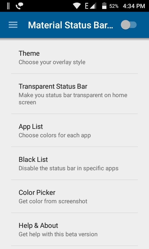 Bar And Notification Panel In Android